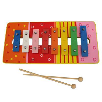 Xylofon i metall och trä - röd