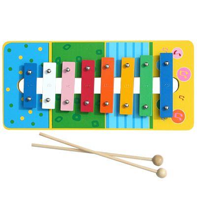 Xylofon i metall och trä - blå