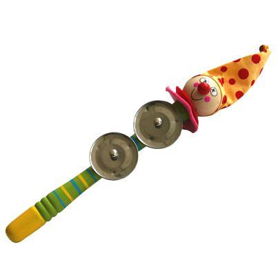 Tamburin som ser ut som en clown, grön