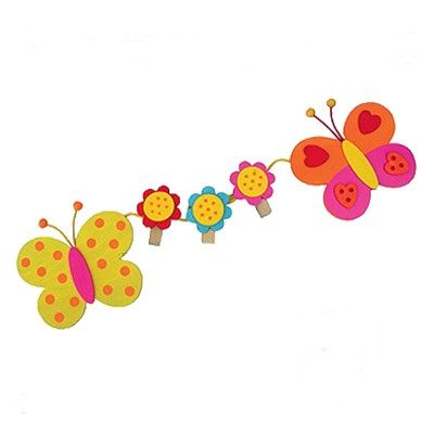 Teckningshållare med fjärilar