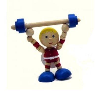 Sportsman i trä - Tyngdlyftare