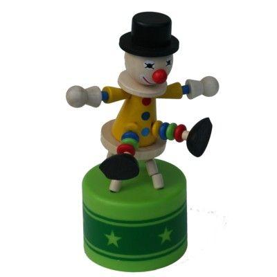Tryckfigur stor - Cirkus - Clown på pall med ljud