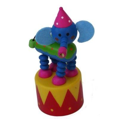 Tryckfigur stor - Cirkus - Elefant med hatt och ljud