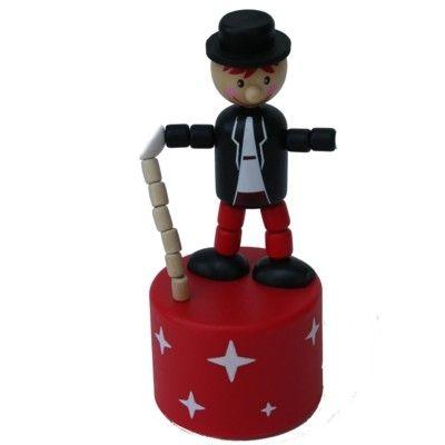 Tryckfigur stor - Cirkus - Jonglör med svart jacka och ljud