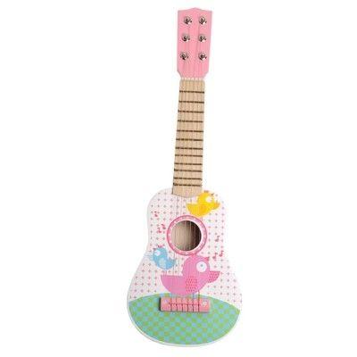 Gitarr - rosa/grön