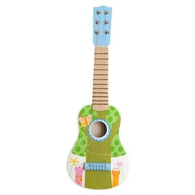Gitarr - ljusblå/grön