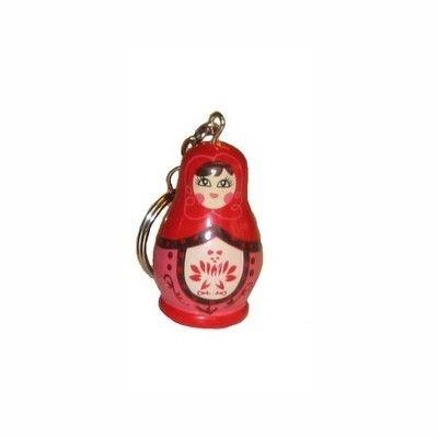Nyckelring med babushka - röd