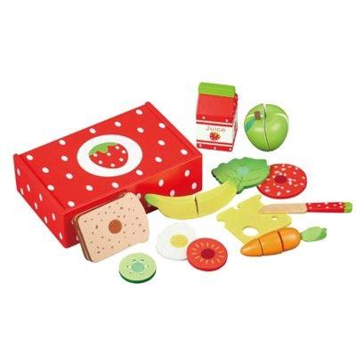Leksaksmat - Matlåda i trä - jordgubbe