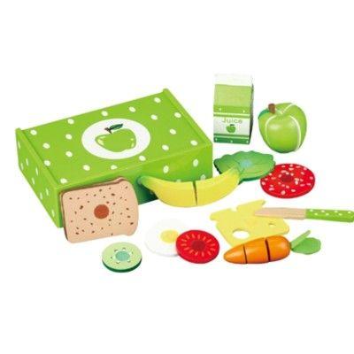 Leksaksmat - Matlåda i trä - äpple