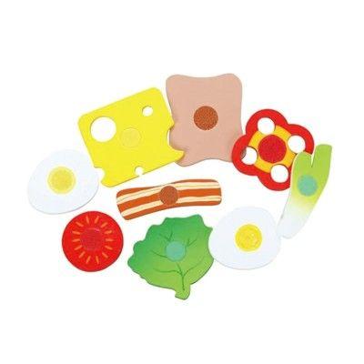 Leksaksmat - pålägg, ost  och grönsaker i trä