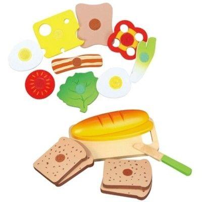 Leksaksmat - bröd och pålägg