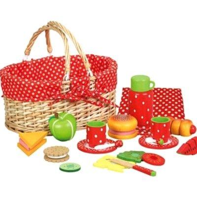 Leksaksmat - Picknickkorg med innehåll - MaMaMeMo