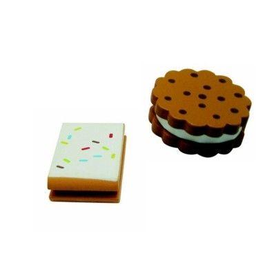 Leksaksmat - Småkakor i trä - set med 2 st