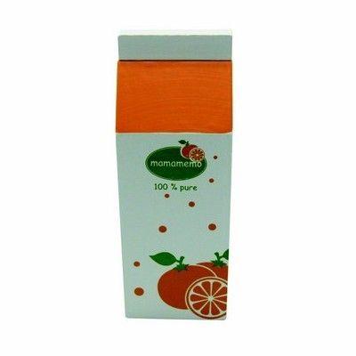 Leksaksmat - Juicekartong i trä - apelsin - MaMaMeMo
