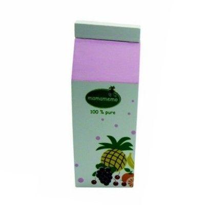 Leksaksmat - Juicekartong i trä - multifrukt