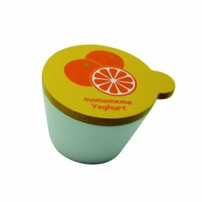 Leksaksmat - Yoghurt i trä - apelsin
