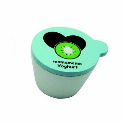Leksaksmat - Yoghurt i trä - kiwi