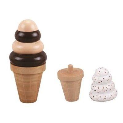Leksaksmat - Mjukglass i strut, 2 st - choklad