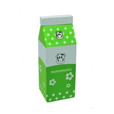 Leksaksmat - Mjölkkartong i trä - grön - MaMaMeMo