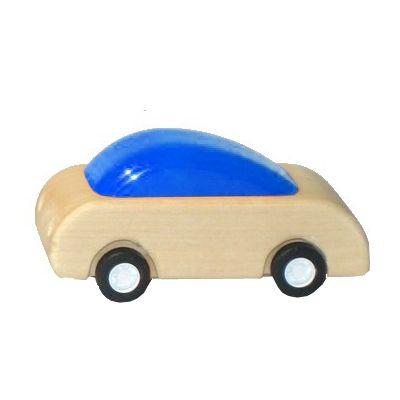 Racerbil med pull-back effekt - blå