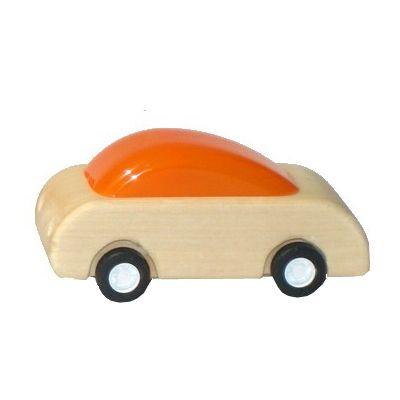 Racerbil med pull-back effekt - orange