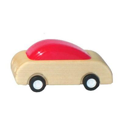 Racerbil med pull-back effekt - röd