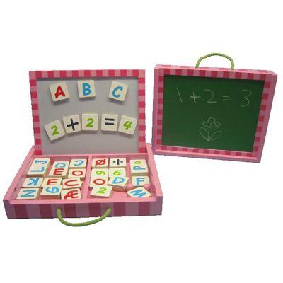 Magnetväska med bokstäver och siffror - rosa