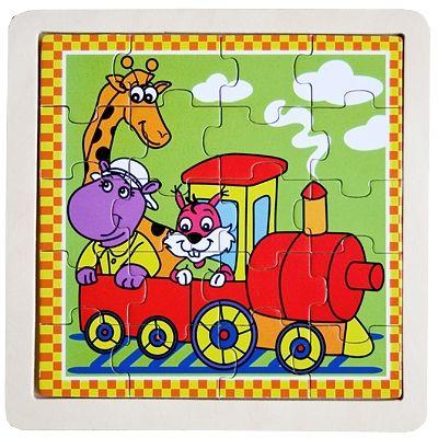 Pussel i trä - Tåg, 20 bitar