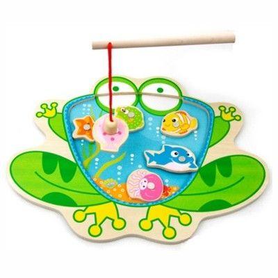 Fiskespel i trä - groda