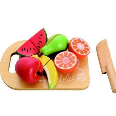 Leksaksmat - Delbar mat på skärbräda - frukt - MaMaMeMo