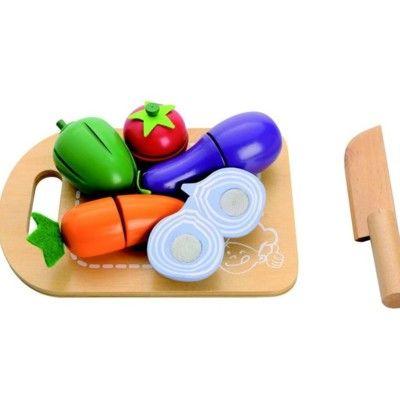 Leksaksmat - Delbar mat på skärbräda - grönsaker - MaMaMeMo