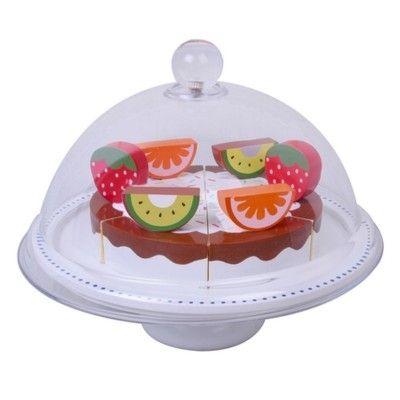 Leksaksmat - Kakfat med tårta och kupa - Mamamemo
