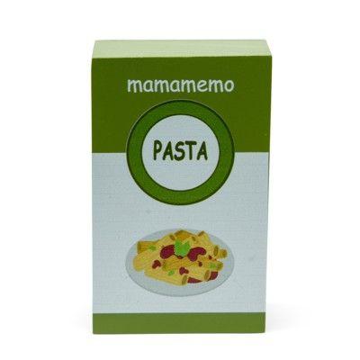 Leksaksmat - Paket med pasta i trä - MaMAMeMo