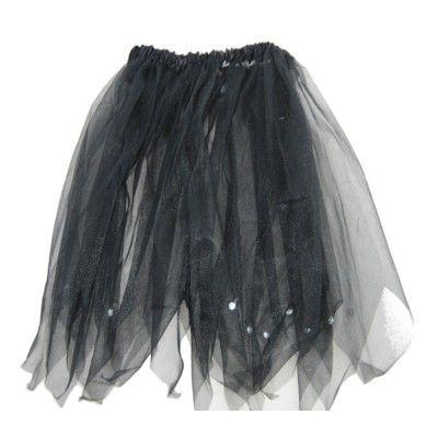 Tyllkjol - svart, 3-6 år