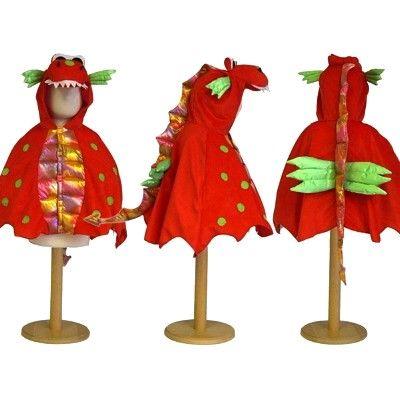 Utklädning - Drakcape med luva, 4-8 år
