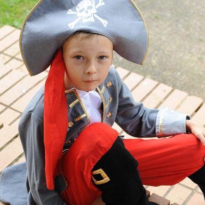Piratkaptensutklädning, 6-8 år