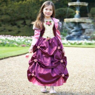 Prinsessklänning med rosor, 6-8 år
