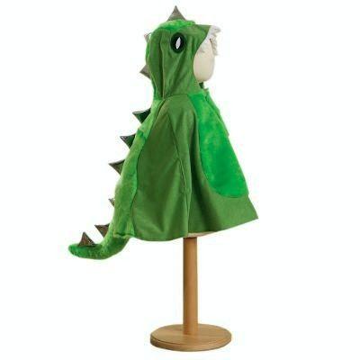 Utklädning - Dinosauriecape med luva, 4-8 år