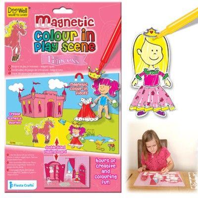 Magnetdocka - prinsessa - måla själv