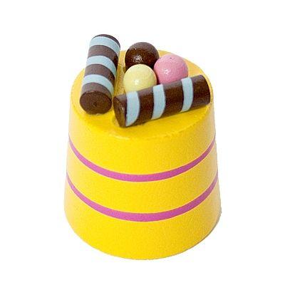 Leksaksmat - rund bakelse - gul