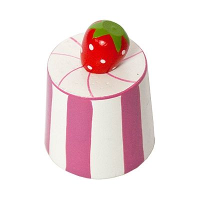 Leksaksmat - rund bakelse - rosarandig