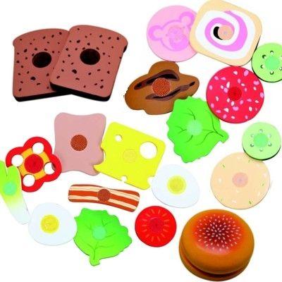 Leksaksmat - Bröd m/ pålägg & grönsaker - 21 delar