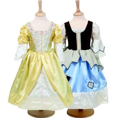 Prinsess-/Askungenklänning - 2 i 1, 6-8 år