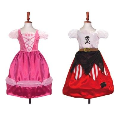 Prinsessklänning/piratklänning - 2 i 1 - 6-8 år
