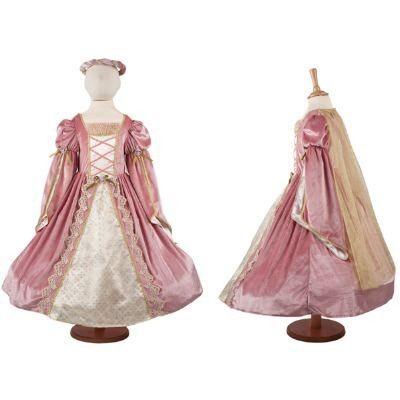 Klänning - medeltida drottning i rosa, 6-8 år