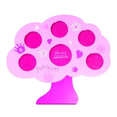 Fotoram - familjeträd - rosa