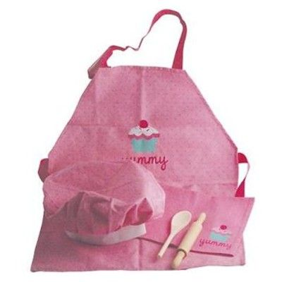 Bakset - rosa med muffins - 5 delar