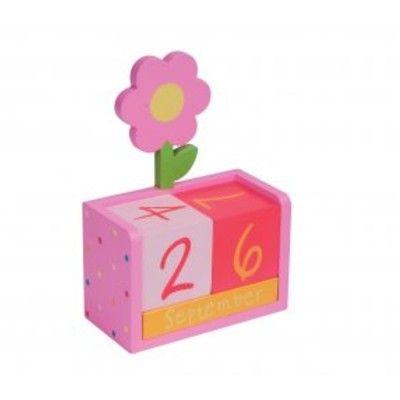 Kalender i målat trä - blomma
