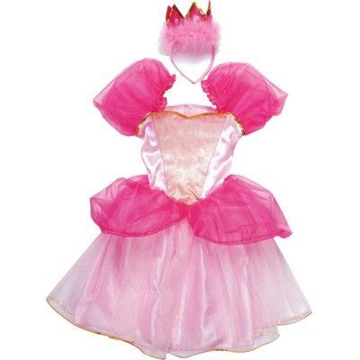 Prinsessklänning med krona - rosa