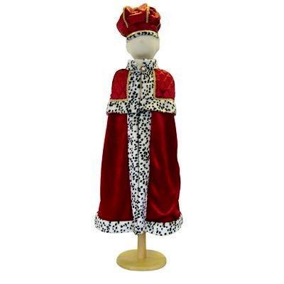 Kungamantel med krona, 6-8 år